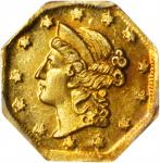1854 Octagonal $1. BG-504. Rarity-5-. Liberty Head,