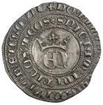 SPAIN: Enrique II, 1369-1379, AR real de 3 maravedis (3.37g), Burgos, ND, CC-1306, crowned monogram