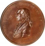1809 (post-1861) James Madison Indian Peace Medal. Medium Size. By John Reich. Julian IP-6. Bronzed