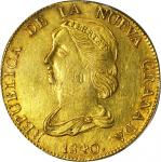 COLOMBIA. 1839-RU 16 Pesos. Popayán mint. Restrepo M212.7. AU Detail — Mount Removed (PCGS).