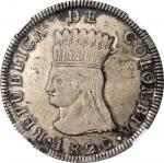 COLOMBIA. Cundinamarca. 8 Reales, 1820-JF. NGC EF-45.