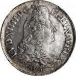 FRANCE. Ecu, 1690-(9). Rennes Mint. Louis XIV. NGC MS-63.