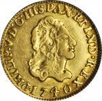 MEXICO. Escudo, 1740/30-MoMF. Philip V (1700-46). PCGS AU-53.