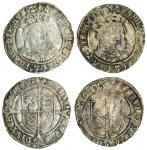 Henry VIII (1509-47), third coinage, Groats (2), both Tower mint, 2.06g, m.m. lis, henric 8 di g agl
