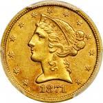 1871-CC Liberty Half Eagle. AU-58 (PCGS). CAC.