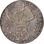 SWEDEN. Riksdaler, 1601. Stockholm Mint. Karl (IX) Riksforestandare (Regent) (1598-1604). NGC EF-45.