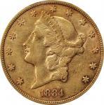 1884-CC Liberty Head Double Eagle. EF-45 (PCGS). CAC.