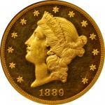 1889 Liberty Head Double Eagle. Proof-65 Ultra Cameo (NGC).