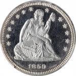 1859 Liberty Seated Quarter. Type I Reverse. Proof-66 Cameo (PCGS).