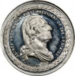 Circa 1861 Residence of Washington medal by George H. Lovett. Second obverse. Uniface. Musante GW-30