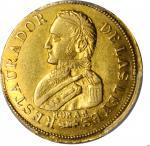ARGENTINA. La Rioja. 2 Escudos, 1842-R. La Rioja Mint. PCGS AU-55 Gold Shield.