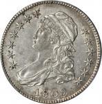 1809 Capped Bust Half Dollar. O-102. Rarity-1. XXX Edge. AU-53 (PCGS).