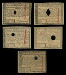 Massachusetts, May 5, 1780 Colonial Currency Grouping. MA-278, $1, PCGS Choice New 63PPQ Hole Punch