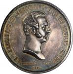 RUSSIA. Alexander II Coronation Silver Medal, 1856. PCGS SP-61 Secure Holder.