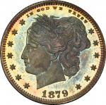 1879 Pattern Washlady Quarter Dollar. Judd-1590, Pollock-1783. Rarity-6+. Silver. Reeded Edge. Proof
