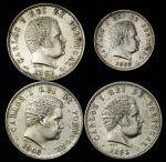 PORTUGAL ポ儿トガ儿 500Reis1891,1895&1906、200Reis1897 VF+~EF+