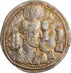 SASSANIAN EMPIRE. Bahram II, A.D. 276-293. AR Drachm (4.31 gms). CHOICE UNCIRCULATED.