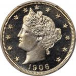 1906 Liberty Head Nickel. Proof-68 Cameo (PCGS).