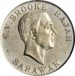 1927-H砂劳越50分 SARAWAK. 50 Cents, 1927-H. Heaton Mint. PCGS Genuine--Cleaned, Unc Details Gold Shield.
