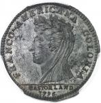 USA Castorland (1792-1800). Cliché d'avers du jeton d'un 1/2 dollar 1796, Paris.