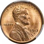 1913-S Lincoln Cent. MS-66 RB (PCGS). CAC.
