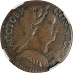 1785 Connecticut Copper. Miller 6.5-M, W-2430. Rarity-6. Mailed Bust Right. VF-25 (NGC).