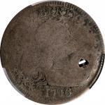 1796 Draped Bust Quarter. B-1. Rarity-4+. Poor/Fair Details--Holed (PCGS).