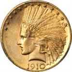 1910-D Indian Eagle. MS-63 (PCGS). Secure Holder.