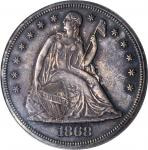 1868 Liberty Seated Silver Dollar. OC-P2. Proof-62 (PCGS).