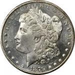 1879-CC Morgan Silver Dollar. MS-64+ PL (PCGS). CAC.