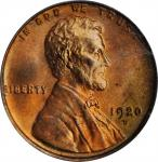 1920-D Lincoln Cent. MS-65 RD (PCGS). OGH.