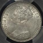 GREAT BRITAIN Victoria ヴィクトリア(1837~1901)   Florin 1886 PCGS-MS62 -UNC