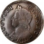 1785 Connecticut Copper. Miller 7.1-D, W-2440. Rarity-4+. Mailed Bust Left. EF Details--Cleaned (PCG