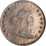 1799 Draped Bust Silver Dollar. BB-165, B-8. Rarity-3. EF-40 (ICG).