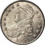 1822 Capped Bust Half Dollar. O-113. Rarity-3. AU-58 (PCGS).