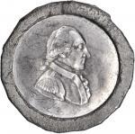 Undated (1790s?) Uniface Soft White Metal Impression of the Unfinished Hancocks Large Eagle George W