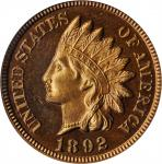 1892 Indian Cent. Proof-65 RD Cameo (PCGS). CAC.