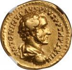 ANTONINUS PIUS, A.D. 138-161. AV Aureus (7.37 gms), Rome Mint, ca. A.D. 160-161. NGC EF, Strike: 5/5