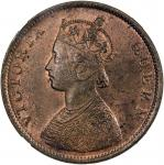 Lot 2629 BRITISH INDIA: Victoria, Queen, 1837-1876, AE frac12 anna, 186240b41, KM-468, SW-4.158, muc