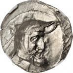PERSIS. Autophradates I, 3rd Century B.C. AR Tetradrachm (16.72 gms). NGC MS, Strike: 4/5 Surface: 4