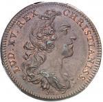 """USA Amérique-Canada (colonies françaises), Louis XV (1715-1774). Jeton """"NON VILIUS AUREO"""" par F. Mar"""