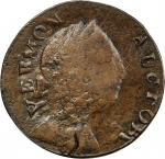 1785 Vermont copper. Ryder-1, W-2250. Rarity-5. IMMUNE COLUMBIA. EF-40 (PCGS).