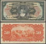 Republica Dos Estados Unidos Do Brazil, 50 Mil Reis, 18 December 1926, serial number 1A/7A/065429, b
