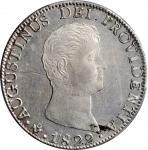 MEXICO. 8 Reales, 1822-Mo JM. Mexico City Mint. Augustin I Iturbide. PCGS Genuine--Scratch, AU Detai