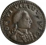 1786 Non Vi Virtute Vici copper. Breen-977, Musante GW-7, Baker-13, W-5730. Small Head. VF Detail—To