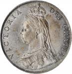GREAT BRITAIN. Florin, 1887. London Mint. Victoria. PCGS MS-64+ Gold Shield.
