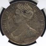 GREAT BRITAIN Anne アン(1702~14) Crown 1708 NGC-XF DetailsCleaned 洗浄 VF+
