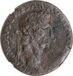 CLAUDIUS, A.D. 41-54. AE Sestertius, Uncertain mint likely in the Balkans. NGC Ch F.