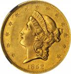 1852 Liberty Head Double Eagle. AU-58 (NGC).