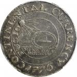 """1776 (1783) Continental """"Dollar."""" Newman 2-C, W-8455. Rarity-3. CURRENCY. Pewter. EF-40 (PCGS)."""